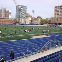 Photo taken at Varsity Stadium by Jessica N. on 5/3/2013