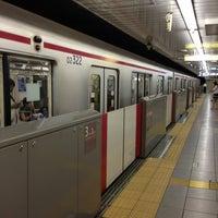 Photo taken at Yotsuya-sanchome Station (M11) by Mikan MK 休. on 6/23/2013