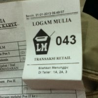 Photo taken at Logam Mulia PT Antam Tbk by iryana i. on 1/21/2013