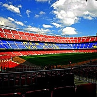 Photo taken at Camp Nou by Rashed A. on 5/21/2013