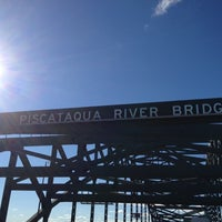 Photo taken at Piscataqua River Bridge by AlohaKarina 🌺🌈🏄🏻🍹 on 11/24/2012
