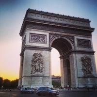 Photo taken at Arc de Triomphe by Jarod Z. on 6/7/2013