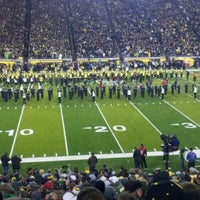 Photo taken at Autzen Stadium by Ozzie O. on 11/20/2011