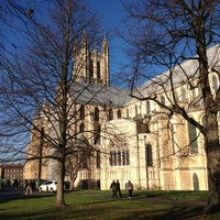 Photo taken at Canterbury Cathedral by Laurence H. on 11/18/2012