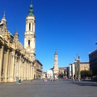 Photo taken at Plaza del Pilar by Joël W. on 6/13/2013