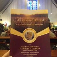 Photo taken at Gereja St. Ignatius Loyola by Florensia on 5/16/2014