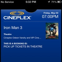 Photo taken at Cineplex Odeon Varsity & VIP Cinemas by Jon G. on 5/3/2013