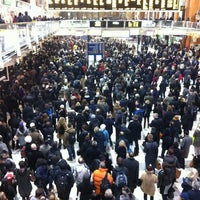 Photo taken at London Liverpool Street Railway Station (LST) by Luke E. on 1/23/2013