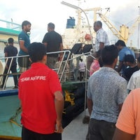 Photo taken at Thilafushi ferry terminal- Thilafushi by Ayiiya M. on 8/14/2013