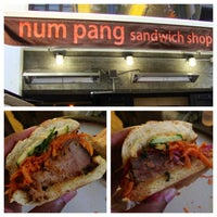 Photo taken at Num Pang Sandwich Shop by KMP Blog on 7/3/2013