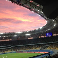Photo taken at Olimpiyskiy Stadium by Ira P. on 7/7/2013