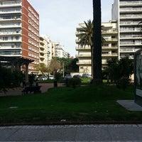 Photo taken at Plaza Gomensoro by Rodrigo P. on 5/10/2013