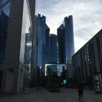 Photo taken at Société Générale Twin Towers by Valentin V. on 9/10/2016
