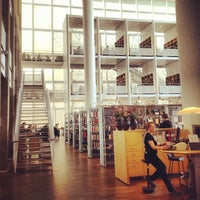 Photo taken at Malmö Stadsbibliotek by Ксюша Н. on 5/4/2013