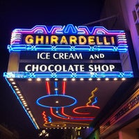 Photo taken at Ghirardelli Ice Cream & Chocolate Shop by Justin B. on 6/1/2014
