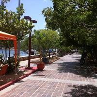 Photo taken at Playa Zaragoza by Isabel P. on 7/25/2013