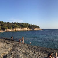 Photo taken at Srebrena beach by Dragan P. on 8/3/2015
