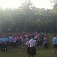 Photo taken at Si Maharacha Field by @NADITLY on 12/9/2014