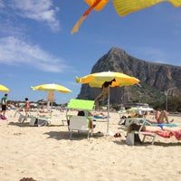 Photo taken at Spiaggia San Vito Lo Capo by Han S. on 4/25/2014