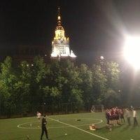 Photo taken at Футбольное поле МГУ by Sasha O. on 5/17/2013