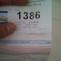 Photo taken at Pejabat Pos (Post Office) by Izzul H. on 10/29/2012