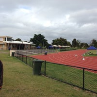 Photo taken at Newport Park Athletics Track by Lyndon B. on 11/29/2013