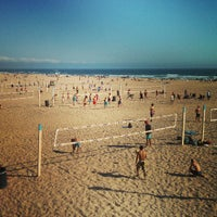 Photo taken at Huntington Beach Beach Volleyball Courts by Anh P. on 4/28/2013