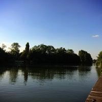 Photo taken at Bords de Seine by Joe L. on 7/16/2014