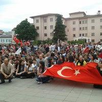 Photo taken at Cumhuriyet Meydanı by Nurteren K. on 6/1/2013