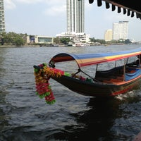 Photo taken at ท่าเรือสาทร (ตากสิน) Sathorn (Taksin) Pier CEN by Elif D. on 2/20/2013