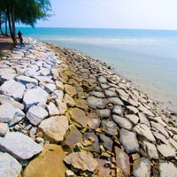 Photo taken at Pantai Teluk Kemang by Riz on 9/30/2012