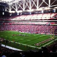 Photo taken at University of Phoenix Stadium by Martha Adriana U. on 12/23/2012
