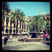 Photo taken at Plaça Reial by Tatiana K. on 7/11/2013