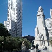 Photo taken at Spanish square by Antonio M. on 7/23/2013