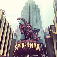 Photo taken at The Amazing Adventures of Spider-Man by Luis M. on 5/6/2013