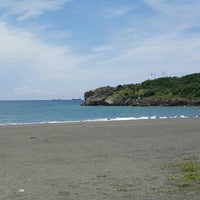 Photo taken at 旗津海水浴場 Cijin Beach by P Y on 6/8/2016
