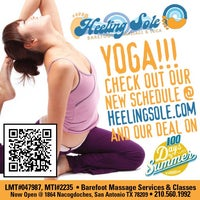 Photo taken at Heeling Sole Barefoot Massage & Yoga by Heeling Sole Barefoot Massage & Yoga on 8/28/2014