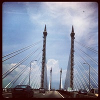 Photo taken at Penang Bridge by Chun W. on 4/20/2013