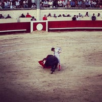 Photo taken at Arènes de Beziers by Hector R. on 8/16/2013