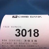 Photo taken at CIMB Bank by LcLiM 立. on 7/17/2013