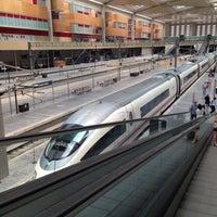 Photo taken at Estación de Zaragoza - Delicias by Uri R. on 7/13/2013