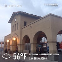 Photo taken at Metrolink San Bernardino Station by Eric B. on 11/16/2013