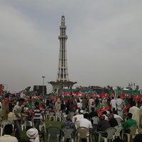 Photo taken at Minar-e-Pakistan by Bilal Q. on 3/23/2013