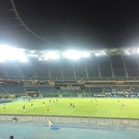Photo taken at Jaber AlAhmad International Stadium by Khaled A. on 9/28/2016