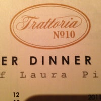 Photo taken at Trattoria #10 by Gustavo G. on 9/17/2013