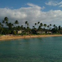 Photo taken at Napili Beach by Mark A. on 4/2/2012