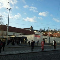 Photo taken at Malostranská (tram) by Marie m. on 1/10/2012