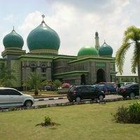 Photo taken at Masjid Agung An-Nur by Mulyadi M. on 7/26/2012