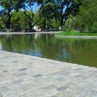 Photo taken at Parque Centenario by Gustavo B. on 3/24/2012