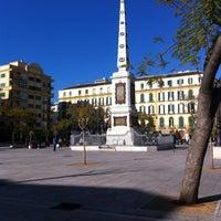 Photo taken at Plaza de la Merced by Pedro M. on 3/12/2012